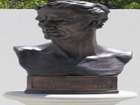 Adam Lindsay Gordon Bronze Bust - Accommodation Georgetown