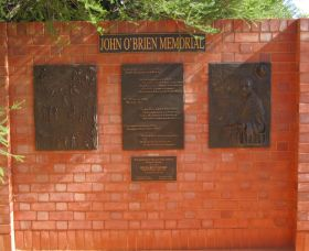 John OBrien Commemorative Wall - Accommodation Georgetown
